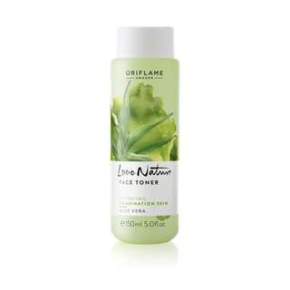 Love nature face toner aloe vera
