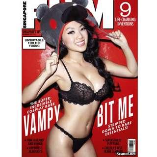 FHM Singapore - December 2013 - Celebrity, Vampy Bit Me