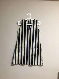 Vertical Stripe Quality Dress