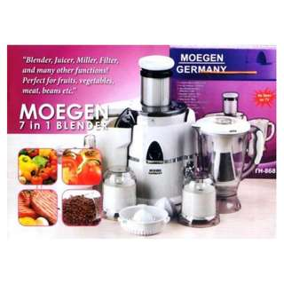 Blender Juicer moegen germany 7 in 1 mixer penggiling daging like phillips