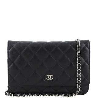 Authentic Chanel Wallet on Chain Caviar