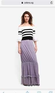 BYSI Shimmer Lilac maxi skirt