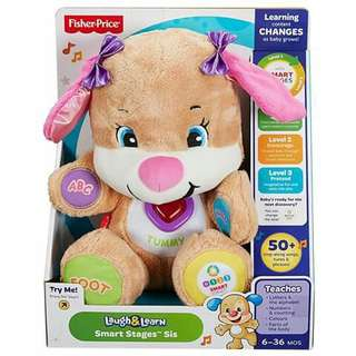 Fisher Price Laugh and Learn Smart Puppy - PINK