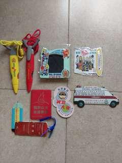 消防及警察精品紀念品一堆FIRE SERVICE & POLICE