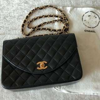 Chanel Vintage Bag 黑色金鏈袋