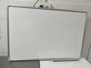 Magnetic Whiteboard with marker tray aluminium frame