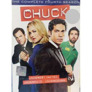 English Drama Chuck The Complete Fourth Season DVD