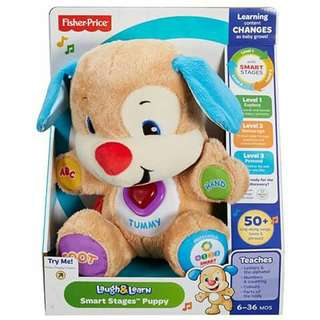 Fisher Price Laugh and Learn Smart Puppy - BLUE