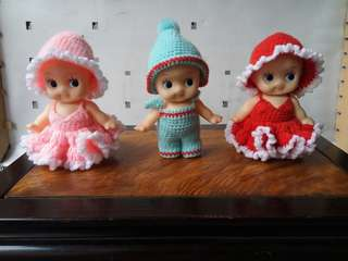 3 Pcs vintage baby doll from japan