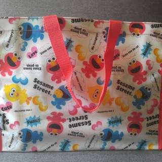 《全新》芝麻街膠質手提袋