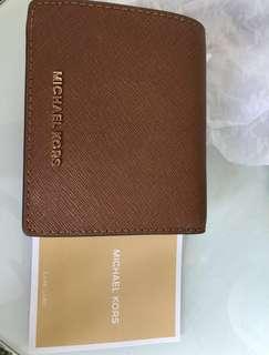 Michael Kors wallet MK銀包 啡色短銀包