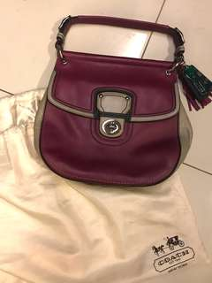 Coach Full Leather Sling Bag with Handle