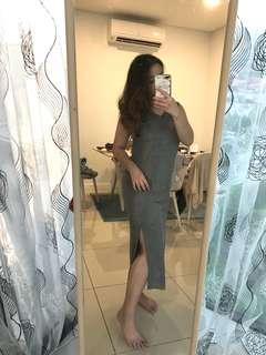 Mango Grey Maxi Dress
