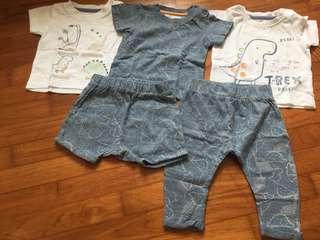 Mothercare Dinosaur T-shirts Short and Pants