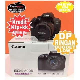 Canon EOS 800D KIT 18-55mm Resmi-cash/kredit Dp 1jt ditoko ktp+kk wa;081905288895