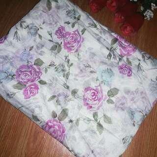Segiempat shabby chic putih dusty pink cantik/jilbab murah/segiempat/pastan/motif/khimar/bergo/inner/ciput/mukena/voal