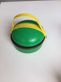 Kids Lunch Box-Top With Football Water Bottle