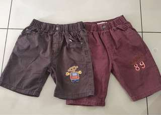 Boy Cotton Shorts for two