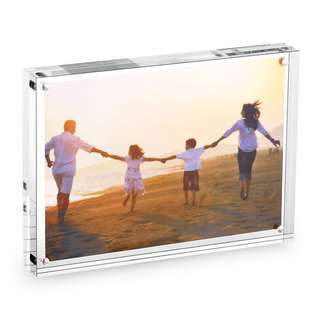 """299. 3.5"""" 5.0"""" Clear Acrylic Photo Frame Thickness 24mm,"""