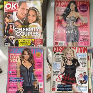4 pcs cosmopolitan ok magazine