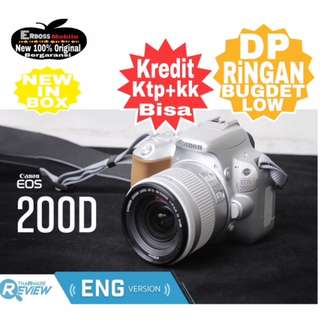 Canon EOS 200D Kit EF-S 18-55mm Resmi-cash/kredit Dp 800rb ktp+kk Wa;081905288895