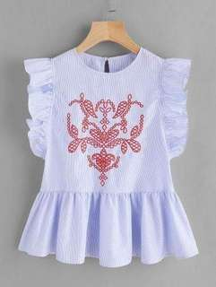 ▪️KOREAN BLOUSE      💰340       Embroidered design      Freesize up to Large frame      *ld