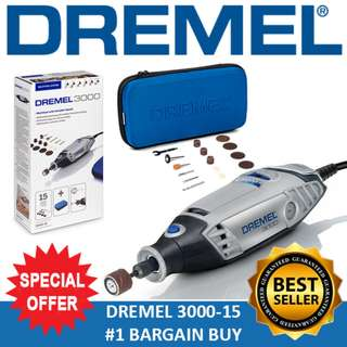 [Limited Time OFFER] DREMEL 3000-15 Rotary Tool Grinder New