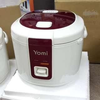 【新】YOMI 日本柔美 Rice Cooker 1.0L 電飯煲(紅色蓋面)