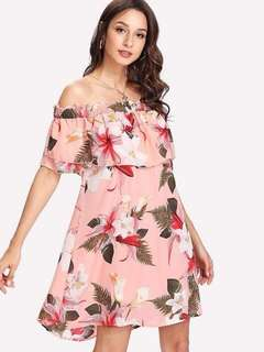 NEW ARRIVAL!  ▪️FLORAL PINK OS DRESS      💰370      Freesize up to Large frame      Ganda ng quality✔️      *ld