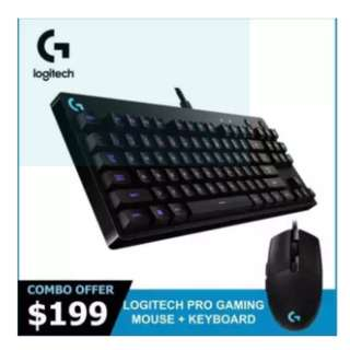 Logitech G Pro Mechanical Gaming Keyboard / Logitech G Pro Gaming Mouse Bundle