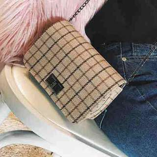 For Pre Order: Checkered Design Sling Bag