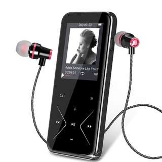 301. Bluetooth MP3 Player KLANGTOP Metal Music Players 8GB with Touch Button FM Radio Voice Record Function