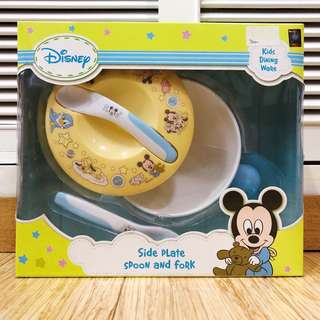 Disney Side Plate Spoon and Fork