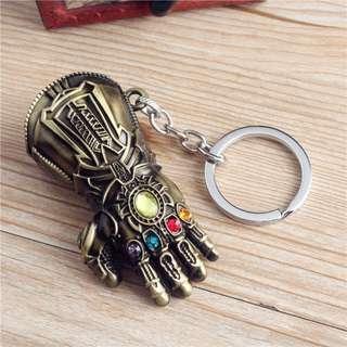 復仇者3周邊滅霸無限之戰手套汽車鑰匙扣挂件 金屬模型鑰匙鏈 Thanos's infinity gauntlet (Avengers infinity war)