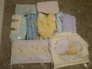 (9件/$100)BB床上用品/床圍/包被/ 枕頭套