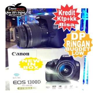 Canon EOS 1300D Kit 18-55MM IS II Resmi-cash/kredit Dp 500rb ktp+kk wa;081905288895
