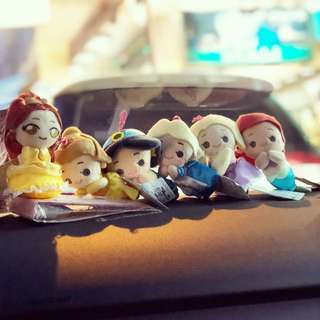 迪士尼 Disney 公主系列 公仔吊飾 Alice Ariel 貝兒 長髮公主 愛麗絲