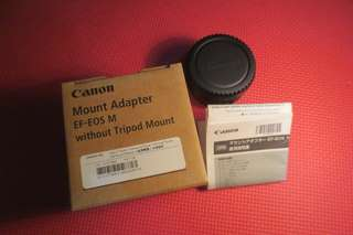 Adapter lensa Canon to mirrorless eos m series