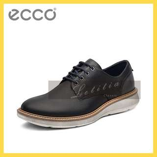 ECCO愛步男士現代休閒款牛皮鞋新品舒適繫帶手工鞋極光538244全粒面牛皮表面帶自然蠟感柔軟舒適內里2wmuW