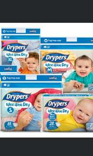 **Drypers** All sizes for sale