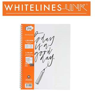Whitelines Link Notebook - A5 lined