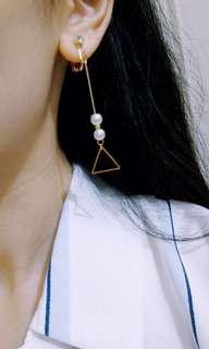 🚚 耳夾無耳洞 法頌優雅三角