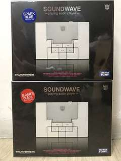 Tf Transformers Soundwave -playing audio player- Set of 2📣