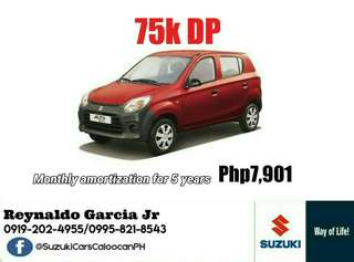 75k or 36k Downpayment Suzuki Alto Call or Text 0995-821-8543 / 0919-202-4955