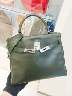 Hermes kelly 28 dark green
