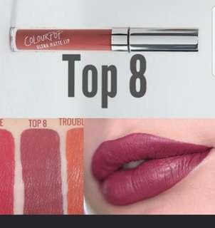 Colourpop TOP 8 UML