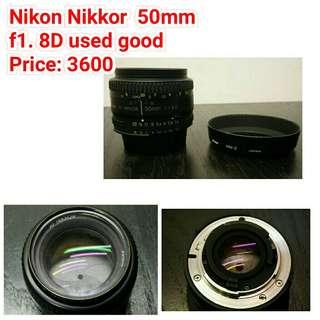Nikon Nikkor  50mm f1. 8D