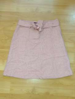👩 Pink 50%Wool Skirt / 粉紅🐑裙  Size 9