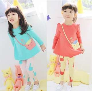 RM35 GIRLS COTTON 2-Pc SET LONG SLEEVE
