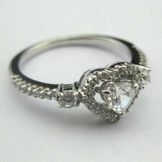 高碳鑽銀戒指